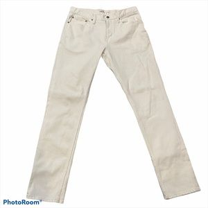 Old Navy Slim White Jeans Built-in-Tough Straight
